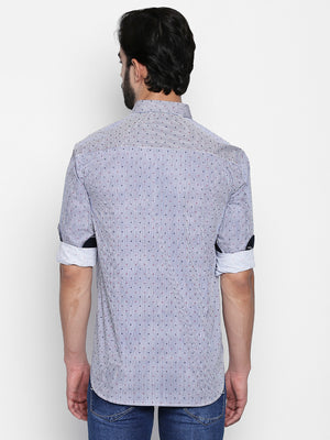 ZIDO Slim Fit Cotton Printed Shirt for Men's PN1414