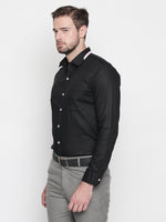 ZIDO Slim Fit Cotton Solid Shirt for Men's ROJ1420