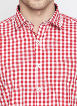 ZIDO Slim fit COTTON Checkered Shirt for Men's BTCH1421