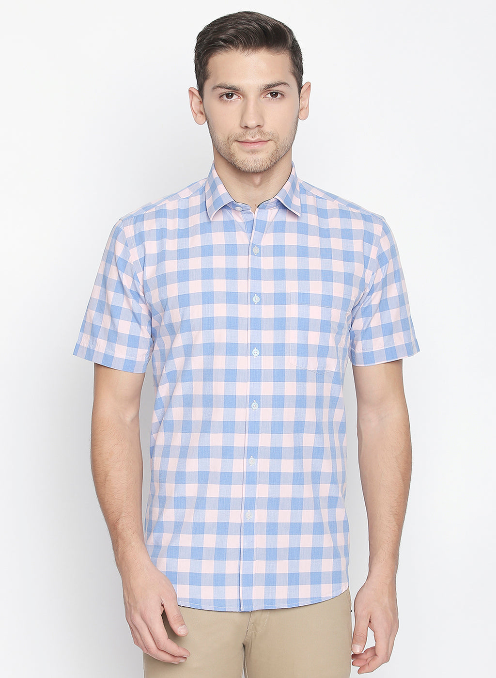 ZIDO Slim fit COTTON Checkered Shirt for Men's BTCH1422