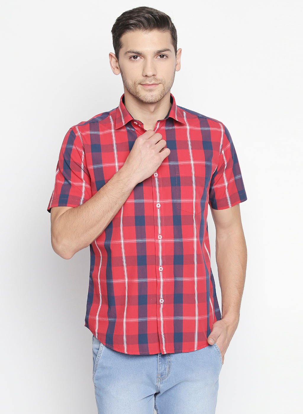 ZIDO Slim fit COTTON Checkered Shirt for Men's BTCH1423