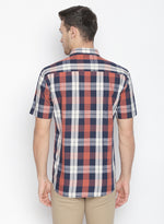 ZIDO Slim fit COTTON Checkered Shirt for Men's BTCH1425