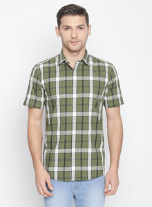 ZIDO Slim fit COTTON Checkered Shirt for Men's BTCH1427