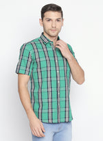 ZIDO Slim fit COTTON Checkered Shirt for Men's BTCH1428
