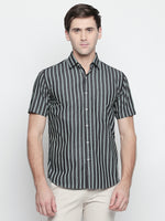 ZIDO Slim Fit Cotton Striped Shirt for Men's STR1429