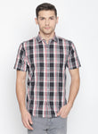 ZIDO Slim fit COTTON Checkered Shirt for Men's BTCH1433