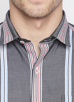 ZIDO Slim fit COTTON Striped Shirt for Men's STR1434