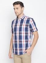 ZIDO Slim fit COTTON Checkered Shirt for Men's BTCH1435