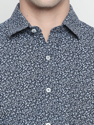 ZIDO Slim Fit Cotton Printed Shirt for Men's PN1436