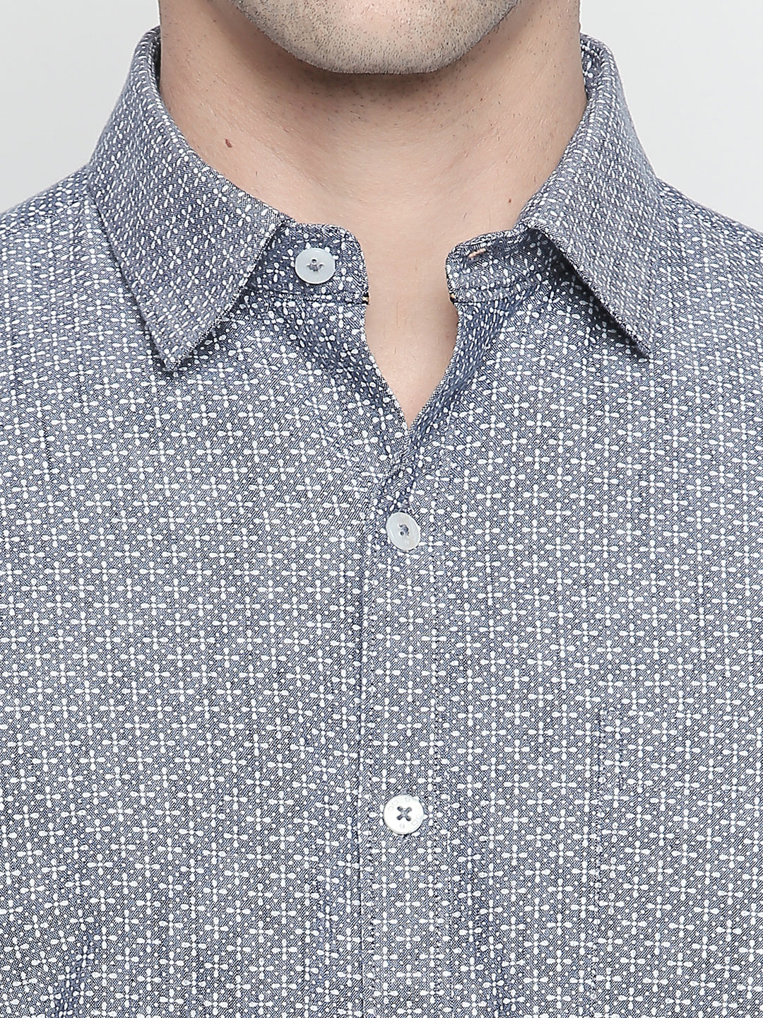 ZIDO Slim Fit Cotton Printed Shirt for Men's PN1440