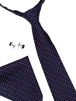 Zido Tie Cufflink Pocket Square Combos for Men TCP187