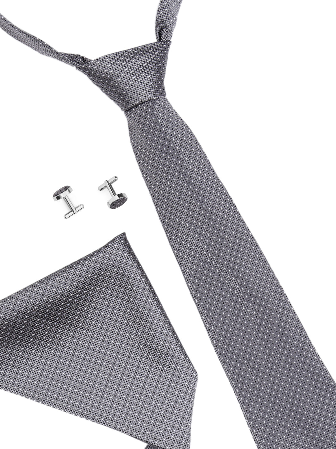 Zido Tie Cufflink Pocket Square Combos for Men TCP188