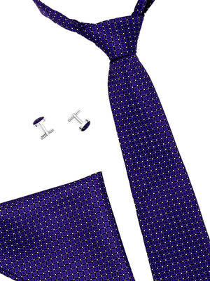 Zido Tie Cufflink Pocket Square Combos for Men TCP189