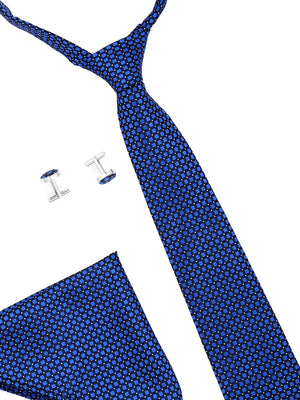Zido Tie Cufflink Pocket Square Combos for Men TCP190