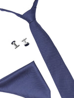 Zido Tie Cufflink Pocket Square Combos for Men TCP191