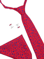 Zido Tie Cufflink Pocket Square Combos for Men TCP192