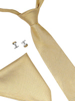 Zido Tie Cufflink Pocket Square Combos for Men TCP195