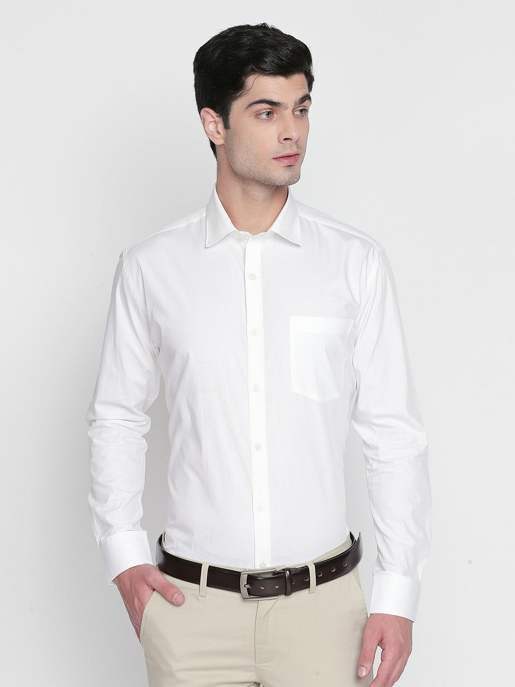 ZIDO Slim Fit Cotton Solid Shirt for Men's PL1443