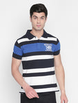 ZIDO Regular Fit Cotton Blend Striped T-Shirt for Men's TSHSTP311
