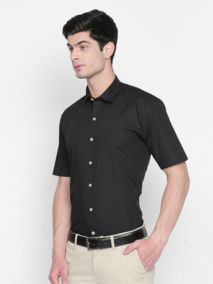 ZIDO Slim Fit Cotton Solid Shirt for Men's PL1444
