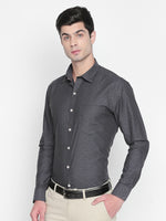 ZIDO Slim Fit Cotton Self Design Shirt for Men's JQ1442