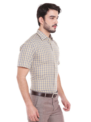 ZIDO Blended Checkered Shirt for Men's SH5136