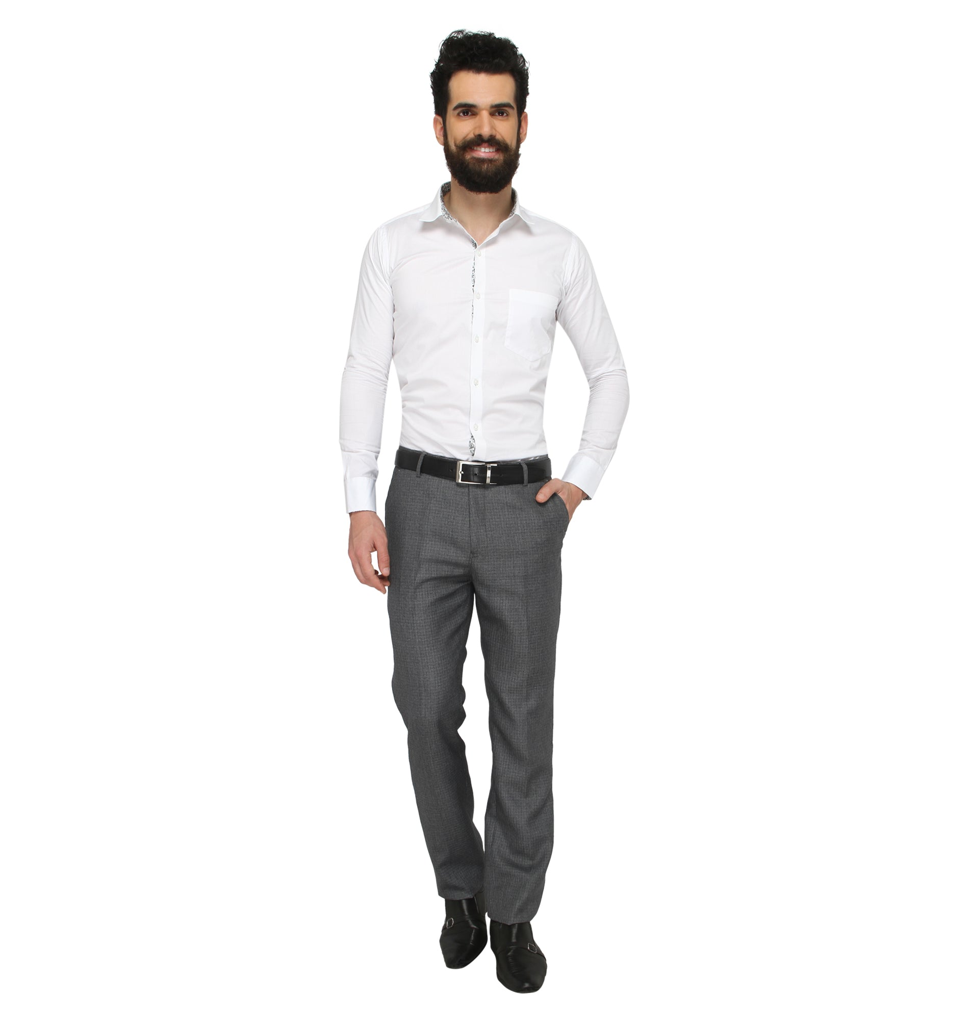 Zido Men'S Slim Fit  Formal Trouser ZI15077