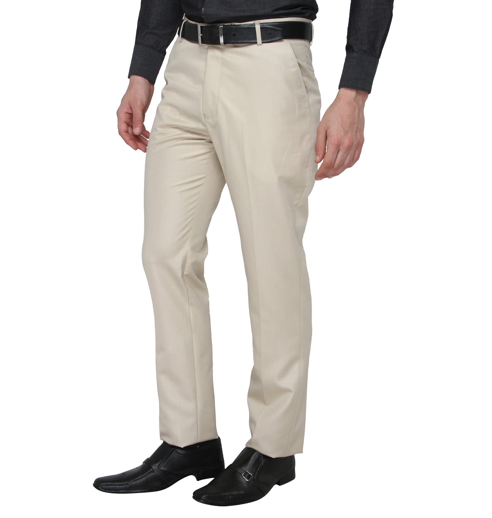 Zido Men'S Slim Fit  Formal Trouser ZI15073