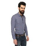 ZIDO Slim fit COTTON Checkered Shirt for Men's BTCH1365