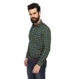 ZIDO Slim fit COTTON Checkered Shirt for Men's BTCH1368