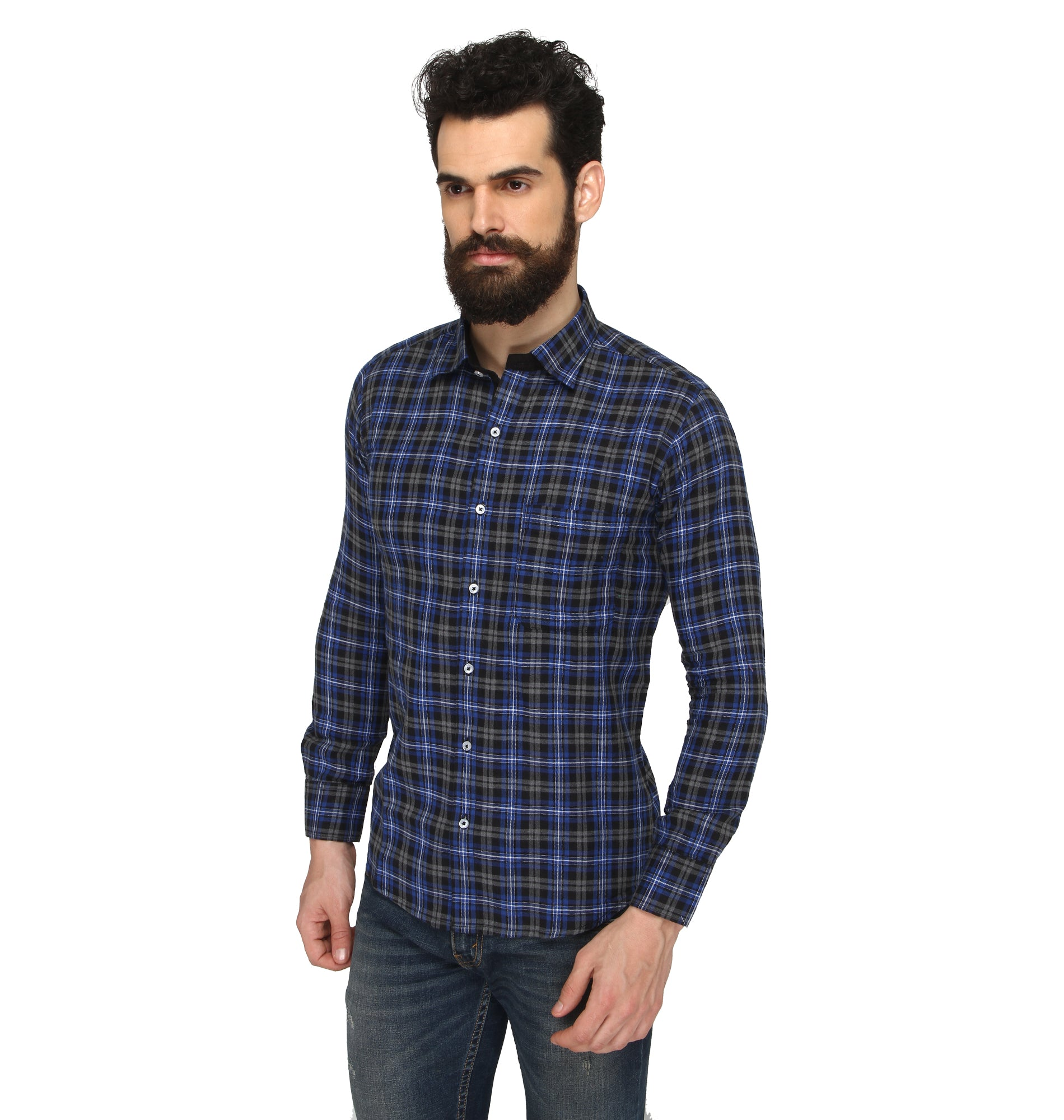ZIDO Slim fit COTTON Checkered Shirt for Men's BTCH1369