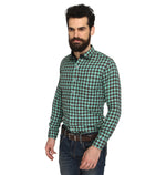 ZIDO Slim fit COTTON Checkered Shirt for Men's BTCH1364