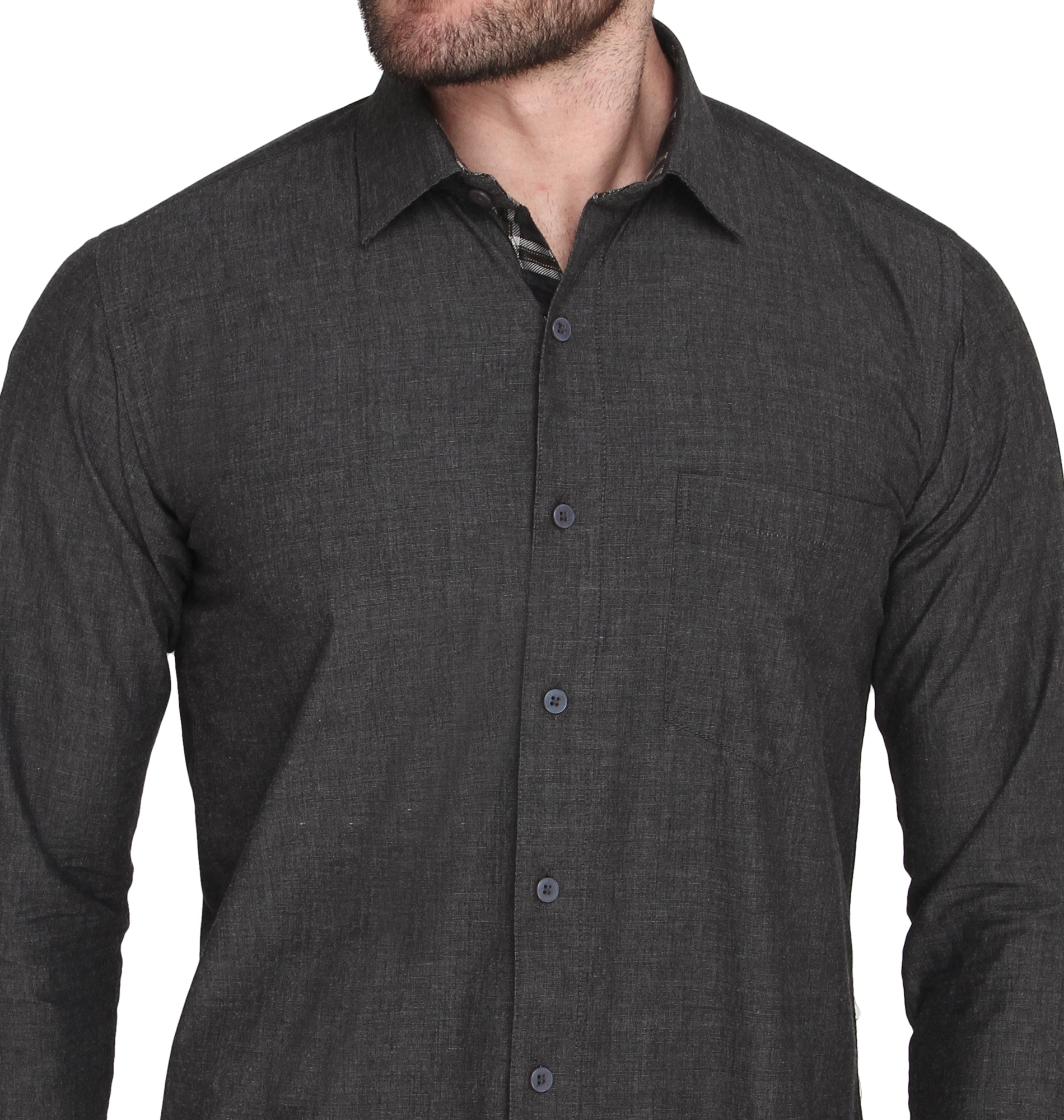 ZIDO COTTON Solid Shirt for Men's RFKC1377