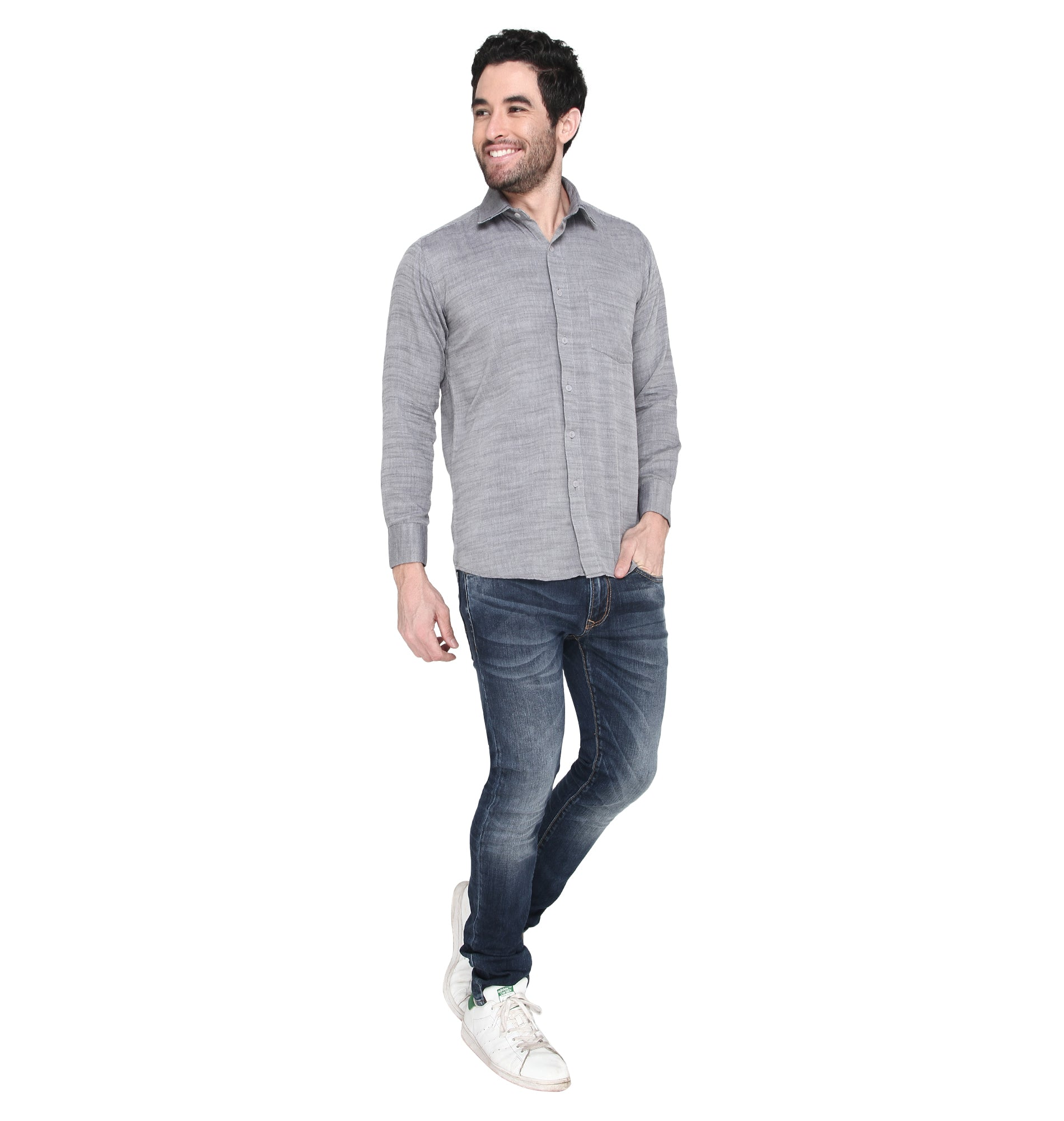 ZIDO COTTON Solid Shirt for Men's BTRR1379