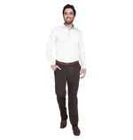 Zido Men's Slim Fit Regular Cotton Formal Trouser - Pant ZICH15081