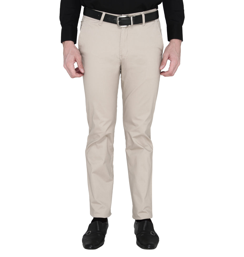 Zido Men's Slim Fit Regular Cotton Formal Trouser - Pant ZICH15082