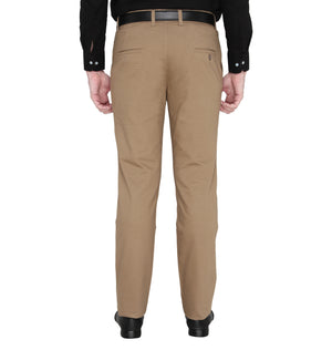 Zido Men's Slim Fit Regular Cotton Formal Trouser - Pant ZICH15083