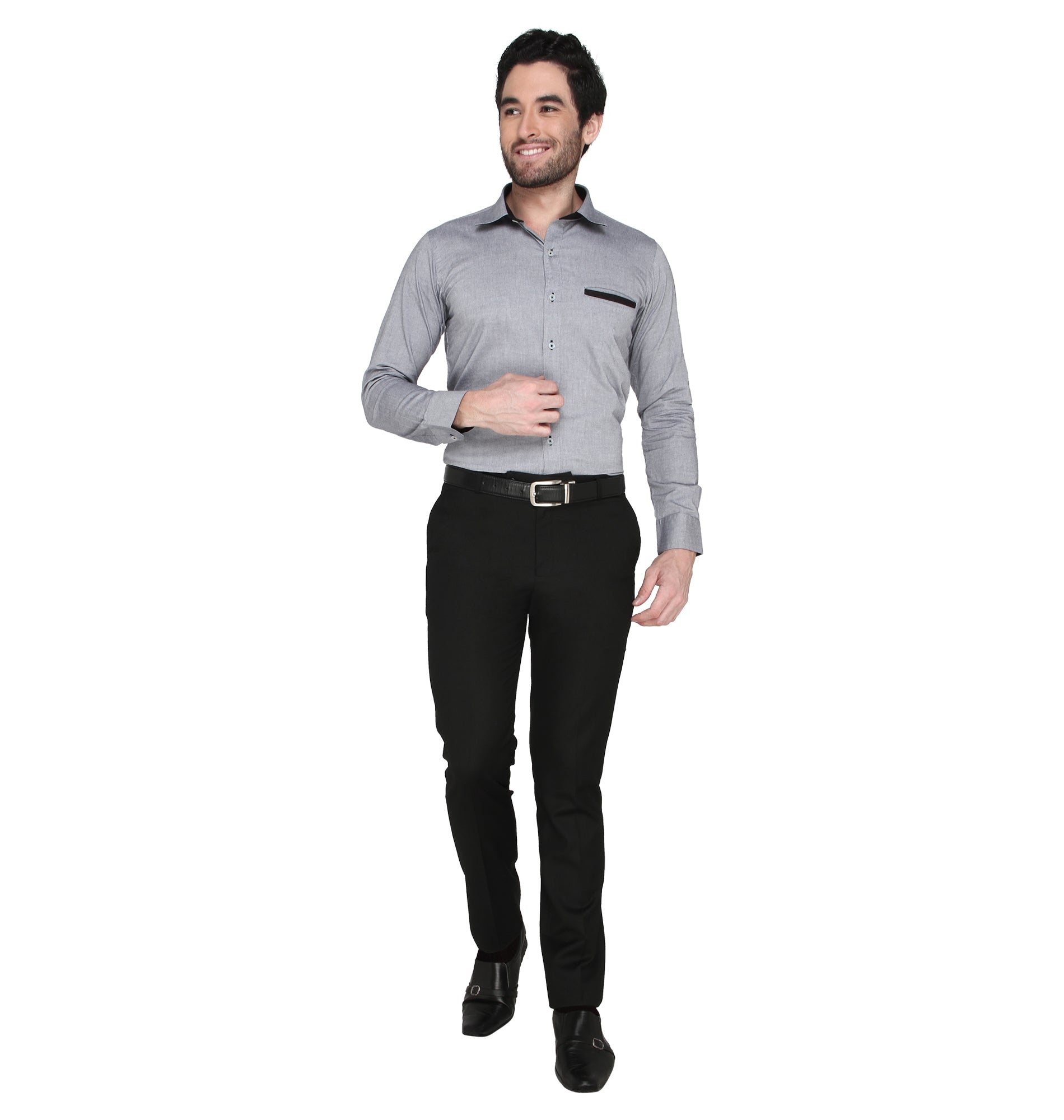 ZIDO cotton Solid Shirt for Men's CHCN1378