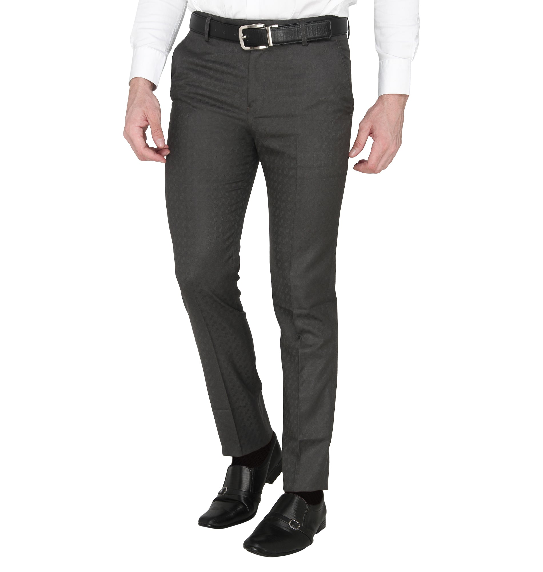 Zido Men's Slim Fit Regular  Formal Trouser - Pant ZI15084