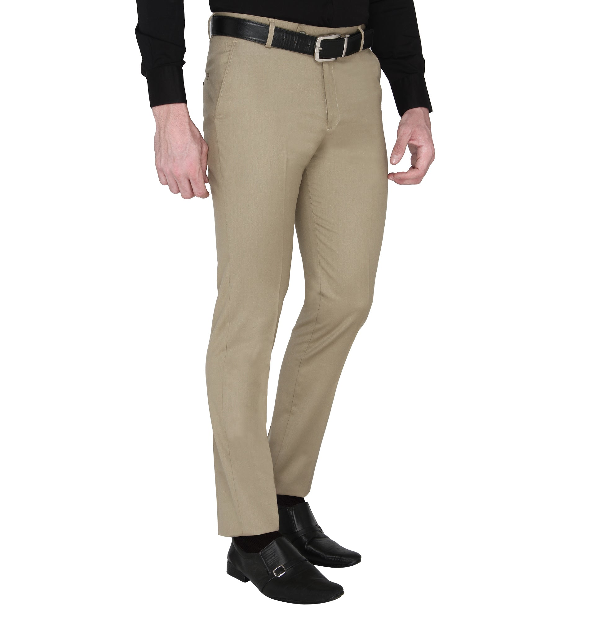 Zido Men's Slim Fit Regular  Formal Trouser - Pant ZI15088