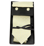 Zido Tie Cufflink Pocket Square Combos for Men  TCP003