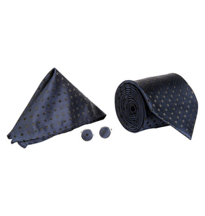 Zido Tie Cufflink Pocket Square Combos for Men  TCP005