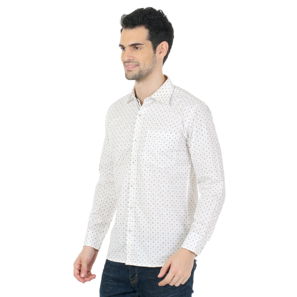 ZIDO  Slim Fit  Mens Cotton Printed  Shirt LNCT1333