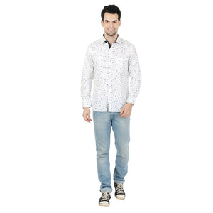 ZIDO  Slim Fit  Mens Cotton Printed  Shirt LNCT1334