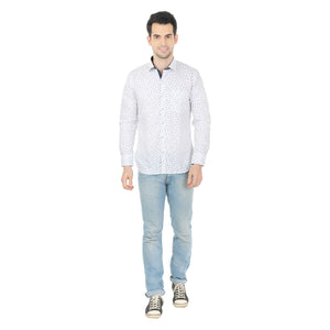 ZIDO  Slim Fit  Mens Cotton Printed  Shirt PNC1337