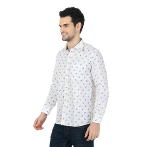 ZIDO  Slim Fit  Mens Cotton Printed  Shirt PNC1338