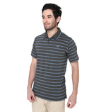 ZIDO Regular Fit Multicolor COTTON Striped T-Shirt for Men's TSHSTP101