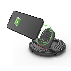 QBUC Car Wireless Charger Stand Charging Mount for iphone 8/8Plus/ X,Samsung Galaxy S8 Edge/S7 Edge/S6 Edge