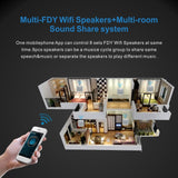 FDY Wall-mounted Wireless Wifi and Bluetooth Speaker With USB AUX LED Airplay DL