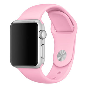 Soft Silicone Sport Style Replacement iWatch Strap Band for Apple Wrist Smart Watch (Pink/42mm)